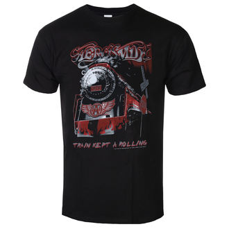 tee-shirt métal pour hommes Aerosmith - Train kept a going - LOW FREQUENCY, LOW FREQUENCY, Aerosmith