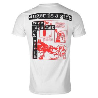 T-shirt pour hommes Rage against the machine - Anger Gift - blanc, NNM, Rage against the machine