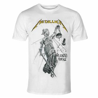 t-shirt pour homme Metallica - Justice Album - blanc - RTMTLTSWJUS