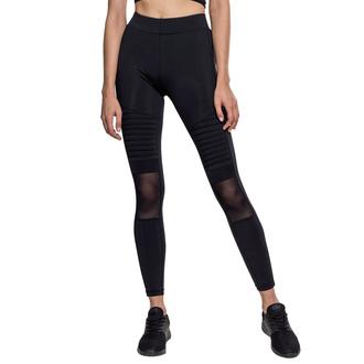 Pantalon pour femmes (leggings) urban CLASSICS - Tech Mesh Biker Leggings - noir, URBAN CLASSICS