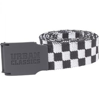 Ceinture URBAN CLASSICS - UC Canvas Checkerboard - noir / blanc, URBAN CLASSICS