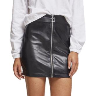 Jupe pour femmes URBAN CLASSICS - Faux Leather - noir, URBAN CLASSICS