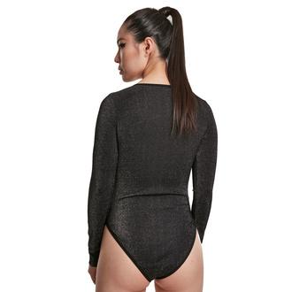Body pour femmes URBAN CLASSICS - Lurex - argent, URBAN CLASSICS