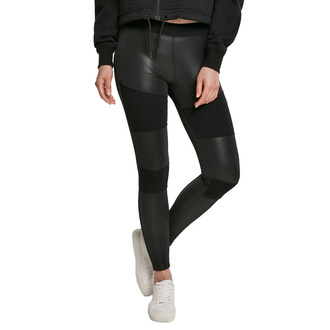 Pantalon pour femmes (leggings) URBAN CLASSICS - Faux cuir Tech Leggings - noir, URBAN CLASSICS