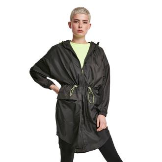 Veste pour femmes URBAN CLASSICS - Transparent Light Parka - noir / chaux électrique, URBAN CLASSICS