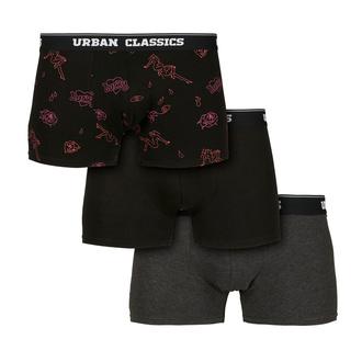 Boxer pour hommes URBAN CLASSICS - 3-Pack - gris / funky, URBAN CLASSICS