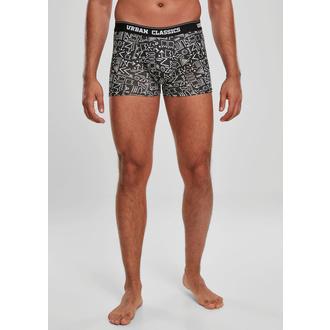 Boxer pour hommes URBAN CLASSICS - 3-Pack - camouflage digital / aztèque, URBAN CLASSICS