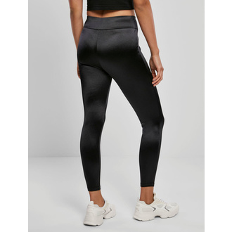 Pantalon pour femmes (leggings) URBAIN CASSIQUES - Shiny High Waist Leggings - noir, URBAN CLASSICS
