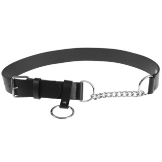 URBAN CLASSICS ceinture - Chain Imitation Leather - noir argent, URBAN CLASSICS