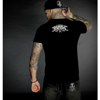 T-shirt pour hommes HYRAW - Graphic - noir LOGO BLANC, HYRAW