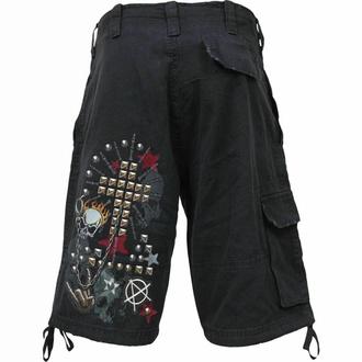 Shorts pour hommes SPIRAL - GOTH METAL - Noir, SPIRAL
