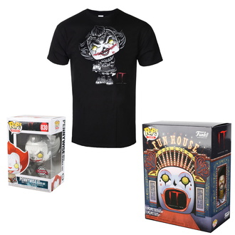 Ensemble (figurine + t-shirt) TO - Stephen Kings - POP! - Pennywise, POP