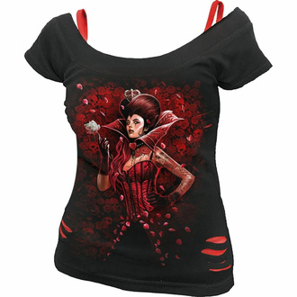 t-shirt pour femmes SPIRAL - QUEEN OF HEARTS - Noir, SPIRAL