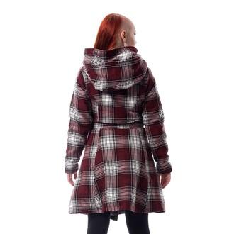 Manteau pour femmes Poizen Industries - VAIL - ROUGE / BLANC CARREAUX, POIZEN INDUSTRIES