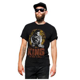 tričko pánské Elvis Presley - The King Of Rock ´n Roll - Black - HYBRIS, HYBRIS, Elvis Presley