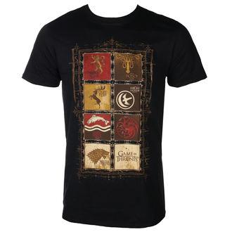 t-shirt de film pour hommes Hra o trůny - BLOCK SIGILS - PLASTIC HEAD, PLASTIC HEAD