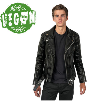 Veste hommes (motard) STRAIGHT TO HELL - Vegan Commando II, STRAIGHT TO HELL