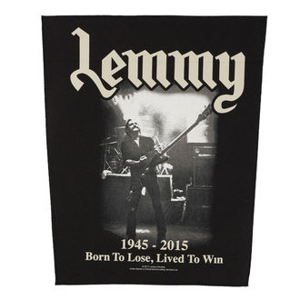grand patch Motörhead - Lemmy - Lived to Win - RAZAMATAZ, RAZAMATAZ, Motörhead