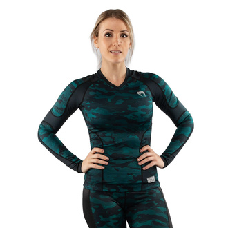 T-shirt pour femmes à manches longue (thermique) VENUM - Defender - Rashguard - Noir / vert, VENUM