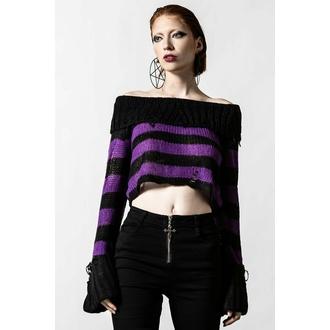 Pull pour femmes KILLSTAR - Veruca Salt Knit - Noir / Prune, KILLSTAR