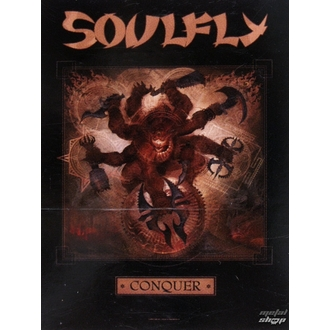 Drapeau Soulfly 'Conquer 1', HEART ROCK, Soulfly