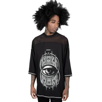 T-shirt unisexe avec manches 3/4 KILLSTAR - Voyeur Mesh - Noir, KILLSTAR