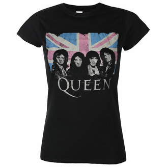 T-shirt pour femmes Queen - Packaged Union Jack - Noir - ROCK OFF, ROCK OFF, Queen