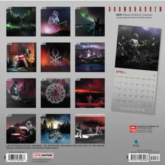 Calendrier 2019 SOUNDGARDEN, NNM, Soundgarden