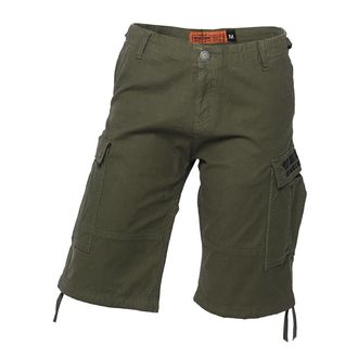 Short pour hommes WEST COAST CHOPPERS - CARGO - Vert Olive, West Coast Choppers