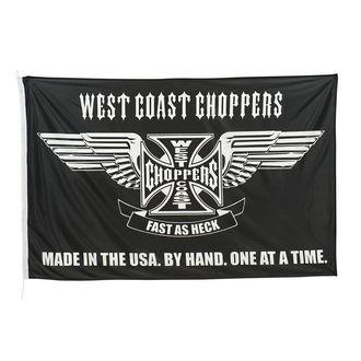 Drapeau WEST COAST CHOPPERS - CROSS STATEMENT - NOIR, West Coast Choppers