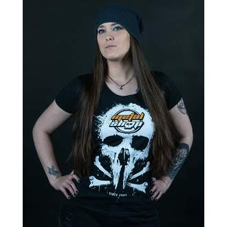 tee-shirt pour femmes Metalshop - Noire, METALSHOP