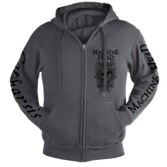 sweat-shirt avec capuche pour hommes Machine Head - Clock GREY - NUCLEAR BLAST