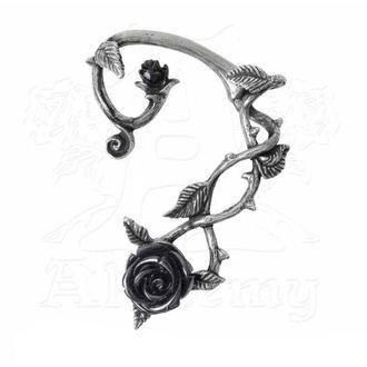 Boucles d'oreilles ALCHEMY GOTHIC - Black Rose Earwrap, ALCHEMY GOTHIC