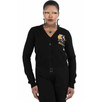 pull-over pour femmes KILLSTAR - Witch Queen Cardigan - Noir, KILLSTAR