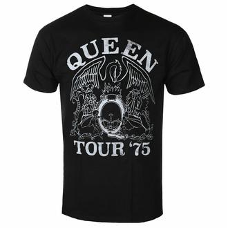 t-shirt pour homme Queen - Tour '75 BL ECO - ROCK OFF, ROCK OFF, Queen