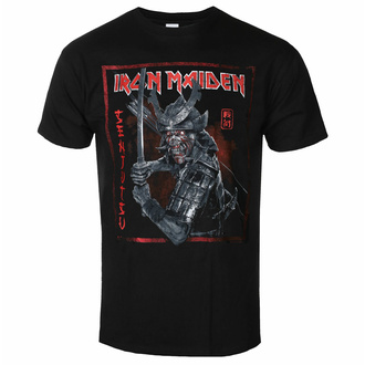 t-shirt pour homme Iron Maiden - Senjutsu Cover Distressed - rouge BL - ROCK OFF, ROCK OFF, Iron Maiden
