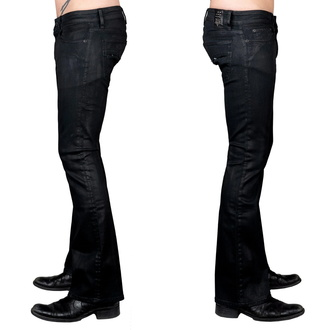Pantalon (jeans) pour hommes WORNSTAR - Hellraiser Coated - Charbon de bois, WORNSTAR