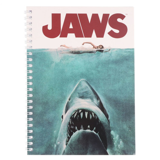 Cahier de notes Jaws - Movie Poster, NNM, Les dents de la mer