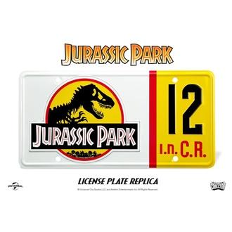 Plaque d'immatriculation Jurassic Park - Réplique 1/1 plaque d'immatriculation de Dennis Nedry, NNM, Jurassic Park