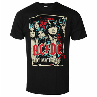 T-shirt pour homme AC/DC Highway To Hell - Sketch - Noir - ROCK OFF, ROCK OFF, AC-DC