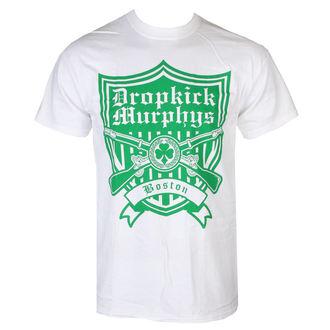tričko pánské Dropkick Murphys - Gun Shield - White - KINGS ROAD, KINGS ROAD, Dropkick Murphys