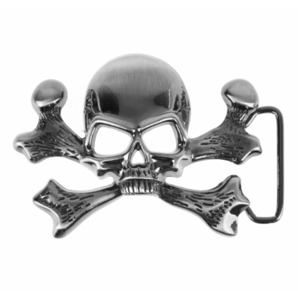 Boucle de ceinture SKULL, BLACK & METAL
