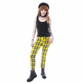 Pantalon pour femmes CHEMICAL BLACK - XYLIA - YEL TARTAN BASSE, CHEMICAL BLACK