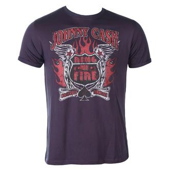 tee-shirt métal pour hommes Johnny Cash - Ring Of Fire BO - ROCK OFF, ROCK OFF, Johnny Cash