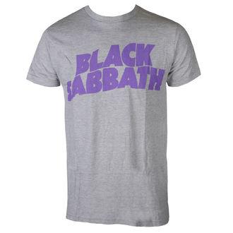 tee-shirt métal pour hommes Black Sabbath - PURPLE LGO T GRY - BRAVADO, BRAVADO, Black Sabbath