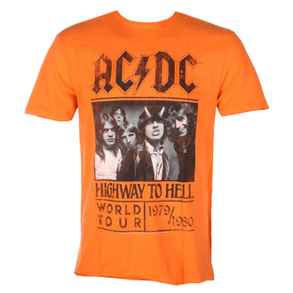 T-shirt AC / DC pour hommes  - HIGHWAY TO HELL TOUR - ORANGE CRUSH - AMPLIFIED, AMPLIFIED, AC-DC