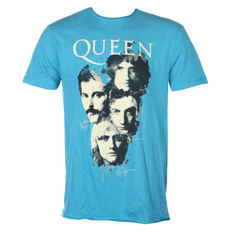 T-shirt QUEEN pour hommes - AUTOGRAPHS - Teal PANTHER - AMPLIFIED, AMPLIFIED, Queen