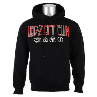 sweat-shirt avec capuche pour hommes Led Zeppelin - LOGO & SYMBOLS - PLASTIC HEAD, PLASTIC HEAD, Led Zeppelin