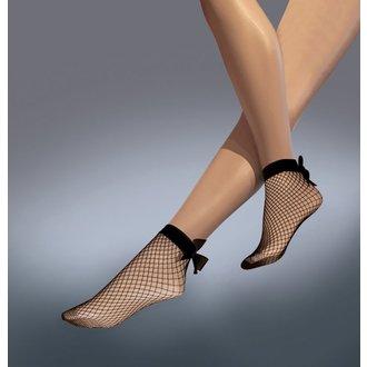 Chaussettes transparentes LEGWEAR - Résille nœud à la cheville - Noir, LEGWEAR