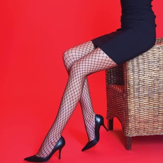 Collants LEGWEAR - Medium net - Noir, LEGWEAR